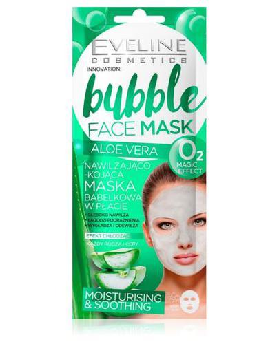 Eveline Bubble Face Mask Aloe Vera Nawilżająco-kojąca maska bąbelkowa w płacie - 1 szt. - cena, opinie, właściwości - Drogeria Melissa