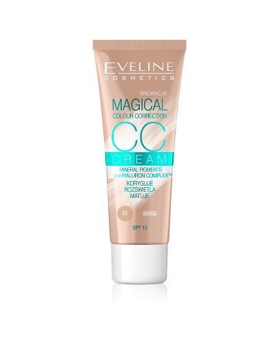Eveline CC Cream Multifunkcyjny podkład 53 Beige - 30 ml - cena, opinie, właściwości  - Drogeria Melissa