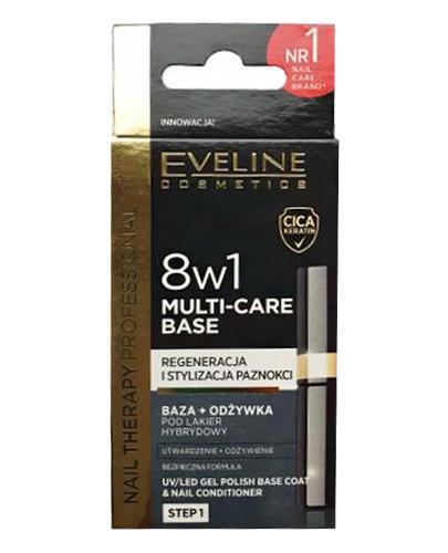 Eveline Cosmetics Multi-Care 8w1 baza + odżywka pod lakier hybrydowy - 1 szt. - cena, opinie, wskazania - Drogeria Melissa