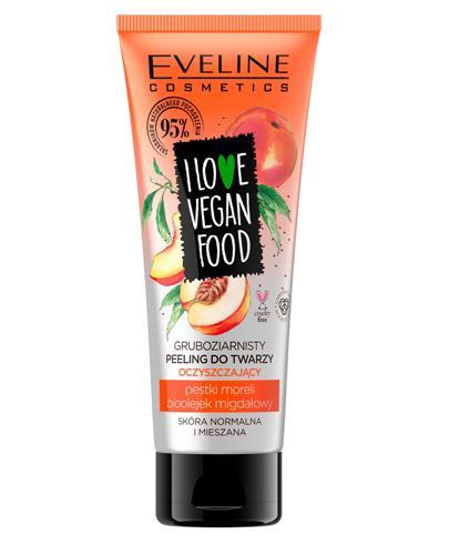 Eveline I Love Vegan Food Gruboziarnisty peeling do twarzy - 75 ml Do oczyszczania skóry normalnej i mieszanej - cena, opinie, stosowanie