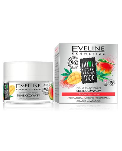 Eveline I Love Vegan Food Naturalny krem silnie odżywczy - 50 ml Do skóry suchej i wrażliwej - cena, opinie, stosowanie