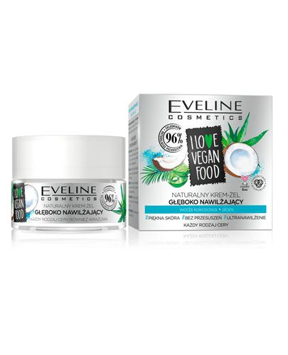 Eveline I Love Vegan Food Naturalny krem-żel głęboko nawilżający - 50 ml Do skóry wymagającej nawodnienia - cena, opinie, stosowanie  - Apteka internetowa Melissa