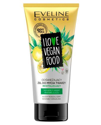Eveline I Love Vegan Food Odświeżający żel do mycia twarzy - 150 ml Do każdego typu skóry - cena, opinie, stosowanie