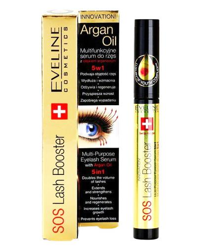 498d4317994 EVELINE SOS LASH BOOSTER Multifunkcyjne serum do rzęs z olejkiem arganowym  5w1 - 10 ml -