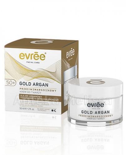 EVREE GOLD ARGAN 50+ Przeciwzmarszczkowy krem do twarzy - 50 ml  - Apteka internetowa Melissa