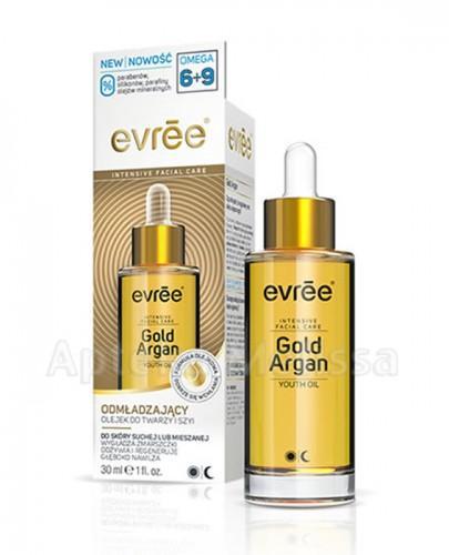 EVREE GOLD ARGAN Odmładzający olejek do twarzy i szyi - 30 ml - Apteka internetowa Melissa