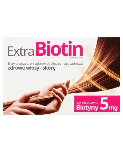 EXTRABIOTIN - 30 tabl. - wysoka dawka 5 mg - cena, właściwości, opinie - Apteka internetowa Melissa