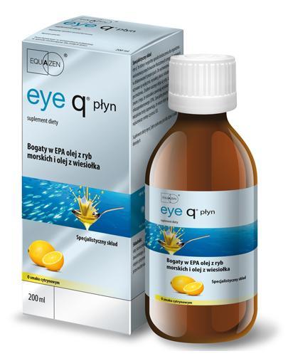 EYE Q Płyn Cytrusowy - 200 ml. Zbilansowane kwasy Omega-3 (EPA, DHA) i Omega-6 (GLA) - Drogeria Melissa