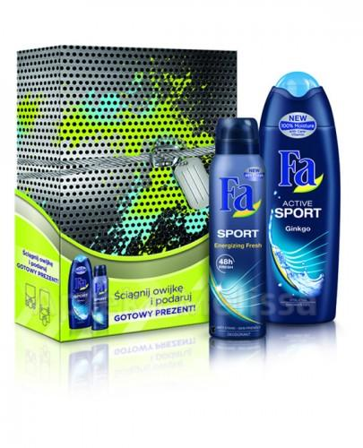 FA MEN ACTIVE SPORT Żel pod prysznic - 250 ml + SPORT Antyperspirant - 150 ml