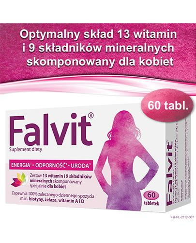 FALVIT Wspomaga organizm kobiety - 60 tabl. - cena, opinie, wskazania - Drogeria Melissa