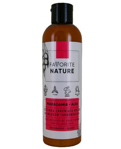 Favorite Nature Odżywka chroniąca kolor do włosów farbowanych makadamia i algi - 250 ml - cena, opinie, właściwości - Apteka internetowa Melissa