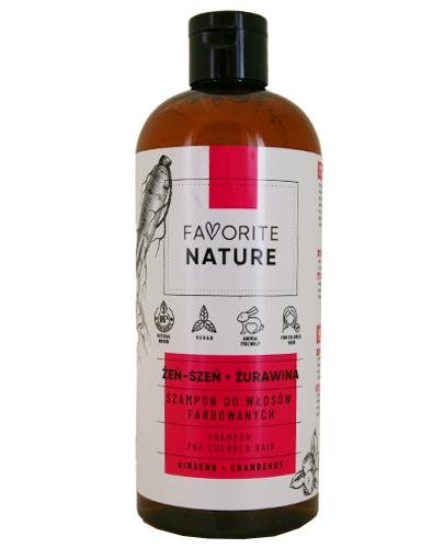 Favorite Nature Szampon do włosów farbowanych żeń-szeń i żurawina - 400 ml - cena, opinie, stosowanie - Drogeria Melissa