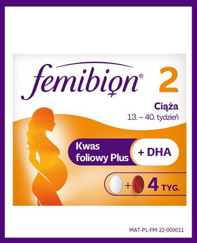 FEMIBION 2 CIĄŻA - 28 tabl. + 28 kaps. 13-40 tydzień - cena, opinie, właściwości - Apteka internetowa Melissa