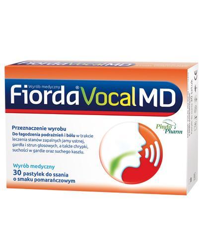 Fiorda Vocal MD o smaku pomarańczowym - 30 tabl. Na chrypkę - cena, opinie, stosowanie  - Apteka internetowa Melissa
