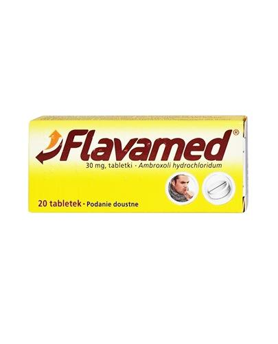 FLAVAMED 30 mg - 20 tabl. Lek na mokry kaszel - cena, opinie, ulotka - Apteka internetowa Melissa