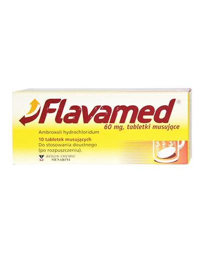 FLAVAMED 60 mg - 10 tabl. mus. Lek na mokry kaszel - cena, opinie, wskazania - Apteka internetowa Melissa