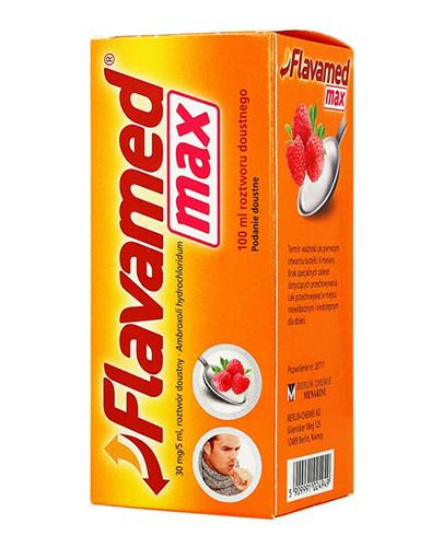 FLAVAMED MAX Syrop 30 mg/5 ml - 100 ml - Apteka internetowa Melissa