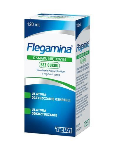 FLEGAMINA BEZ CUKRU Syrop o smaku miętowym 4 mg/5 ml - 120 ml - Apteka internetowa Melissa