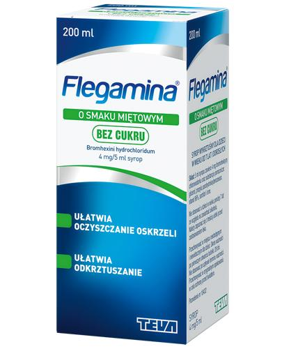 FLEGAMINA BEZ CUKRU Syrop o smaku miętowym 4 mg/5 ml - 200 ml
