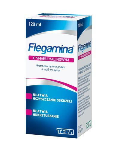 FLEGAMINA Syrop o smaku malinowym 4 mg/5 ml - 120 ml - Apteka internetowa Melissa
