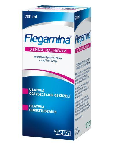 FLEGAMINA Syrop o smaku malinowym 4 mg/5 ml - 200 ml - Apteka internetowa Melissa