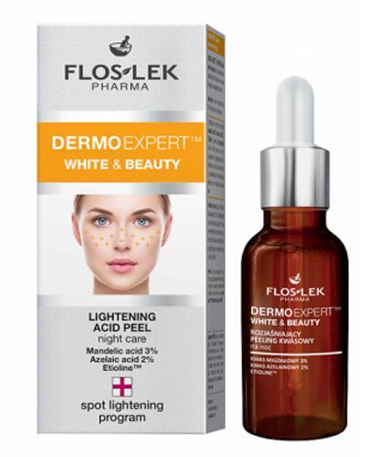 FLOS-LEK DERMO EXPERT WHITE&BEAUTY Rozjaśniający peeling kwasowy na noc - 30 ml  - Apteka internetowa Melissa
