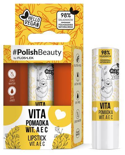 Flos-Lek Vege Lip Care Vita Pomadka do ust z witaminami A, E i C - 1 szt. - cena, opinie, właściwości - Drogeria Melissa