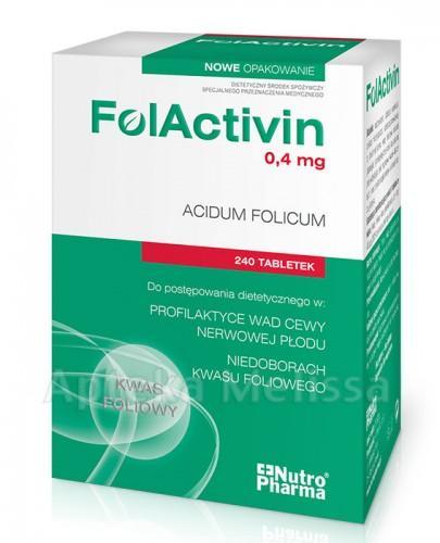 FOLACTIVIN Kwas Foliowy 0,4 mg - 240 tabl. - Apteka internetowa Melissa