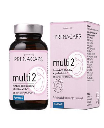 ForMeds Prenacaps multi 2 - 60 kaps. - Od 13. tygodnia ciąży - cena, opinie, wskazania