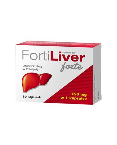 FortiLiver forte 750 mg - 30 kaps. - cena, opinie, wskazania - Drogeria Melissa