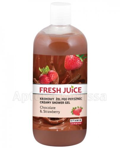 FRESH JUICE Kremowy żel pod prysznic Chocolate & Strawberry - 500 ml - Apteka internetowa Melissa