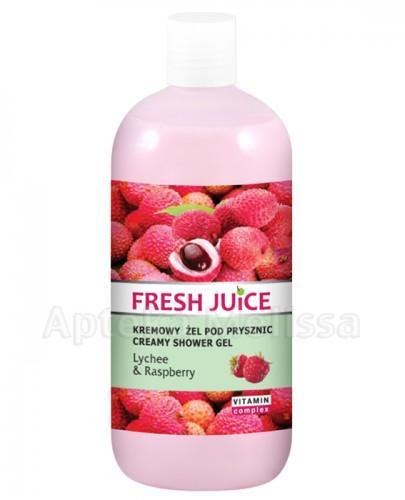 FRESH JUICE Kremowy żel pod prysznic Lychee & Raspberry - 500 ml - Apteka internetowa Melissa