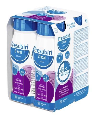 Fresubin 2 kcal Drink o smaku owoców leśnych - 4 x 200 ml - cena, opinie, wskazania  - Drogeria Melissa