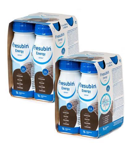 FRESUBIN ENERGY DRINK O smaku czekoladowym - 4 x 200 ml + 4 x 200 ml  - Apteka internetowa Melissa