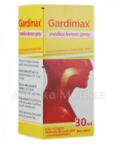 GARDIMAX MEDICA LEMON SPRAY Aerozol do stosowania w jamie ustnej  - 30 ml - Apteka internetowa Melissa