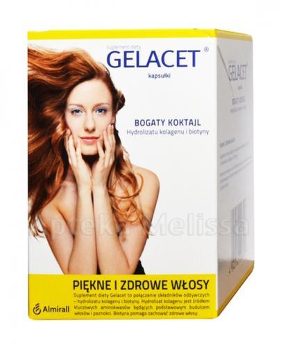 GELACET - 120 kaps. Piękne i zdrowe włosy - cena, opinie, właściwości - Drogeria Melissa