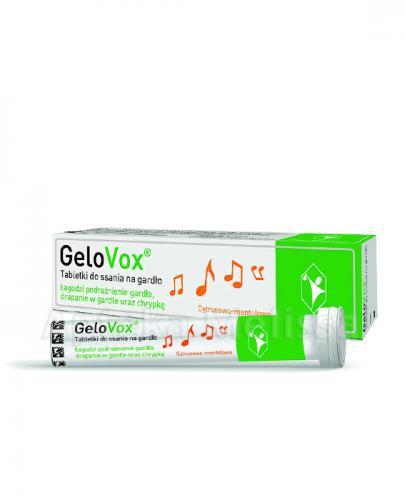 GELOVOX Tabletki do ssania na gardło, cytrusowo-mentolowe - 20 szt. - Apteka internetowa Melissa