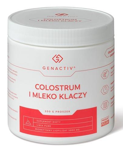 Genactiv Sport Immuno Colostrum EQ proszek - 200 g - cena, opinie, właściwości - Apteka internetowa Melissa