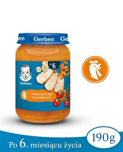 GERBER OBIADEK Delikatny indyk w pomidorach po 6 miesiącu - 190 g - Apteka internetowa Melissa