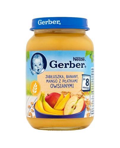 GERBER DESEREK Jabłuszka, banany, mango z płatkami owsianymi po 8 m-cu - 190 g - Apteka internetowa Melissa