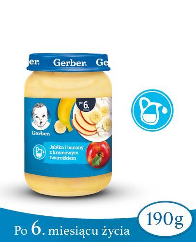 GERBER DESEREK Jabłka i banany z kremowym twarożkiem po 6 miesiącu - 190 g  - Apteka internetowa Melissa