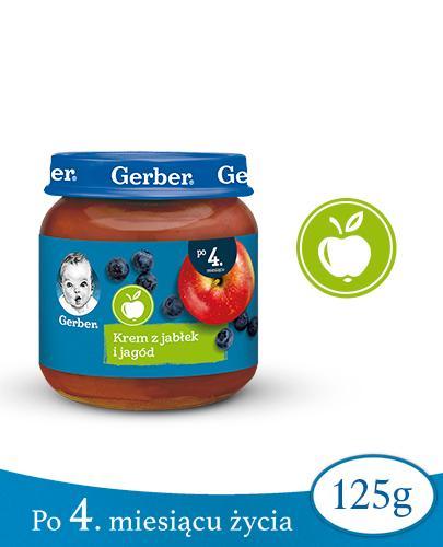 GERBER DESEREK Krem z jabłek i jagód po 4 miesiącu - 125 g - Apteka internetowa Melissa