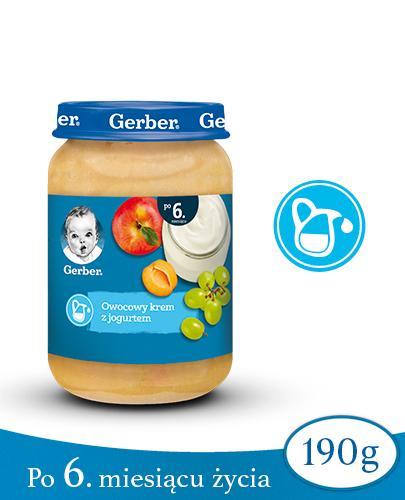 GERBER DESEREK Owocowy krem z jogurtem po 6 miesiącu - 190 g - Apteka internetowa Melissa