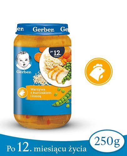 GERBER JUNIOR OBIADEK Warzywa z kurczakiem i kaszą 12-36 miesięcy - 250 g - Apteka internetowa Melissa