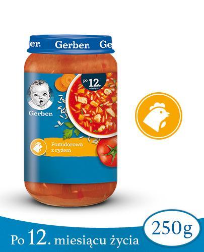 GERBER DOREMI ZUPKA Pomidorowa z ryżem 12-36 miesięcy - 250 g - Apteka internetowa Melissa