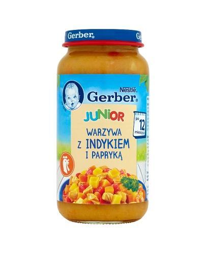 GERBER JUNIOR Warzywa z indykiem i papryką po 12 m-cu -  250 g - Apteka internetowa Melissa