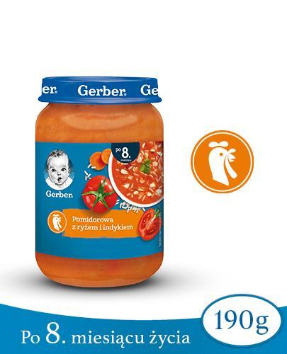 GERBER KUCHNIA POLSKA Zupka pomidorowa z ryżem i indykiem po 8 miesiącu - 190 g - Apteka internetowa Melissa