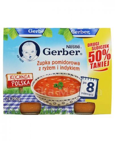 GERBER KUCHNIA POLSKA Zupka pomidorowa z ryżem i indykiem po 8 miesiącu - 2 x 190 g - Apteka internetowa Melissa