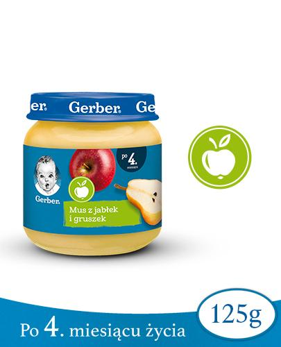 GERBER DESEREK Mus z jabłek i gruszek po 4 miesiącu - 125 g - Apteka internetowa Melissa