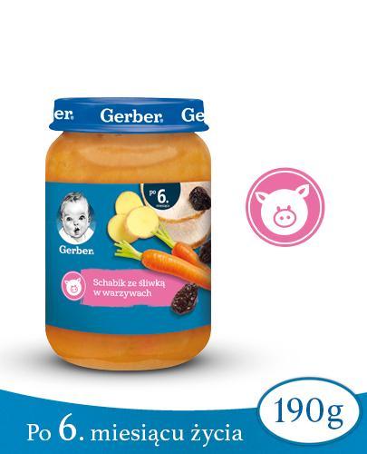 GERBER Schabik ze śliwką w warzywach po 6 m-cu - 190 g  - Apteka internetowa Melissa